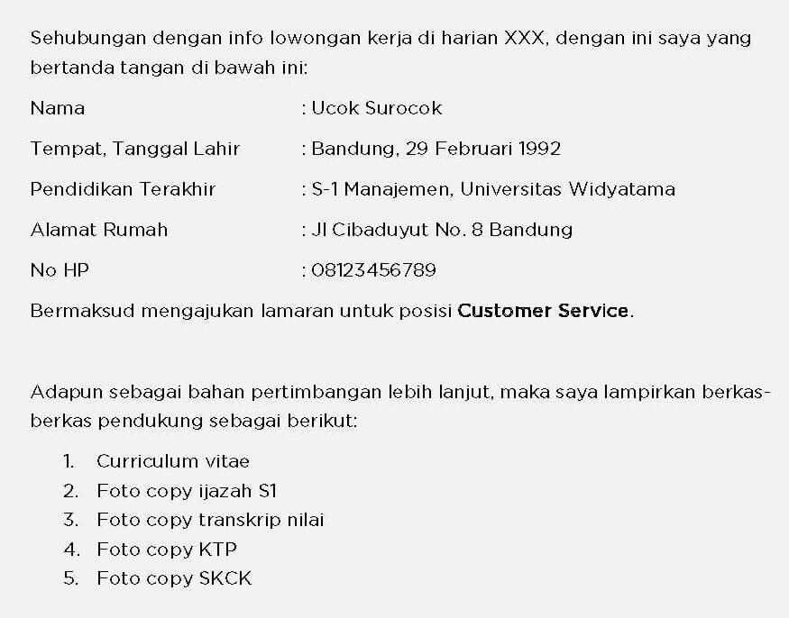 Copy Of A Cover Letter from cepetdapetkerja.id