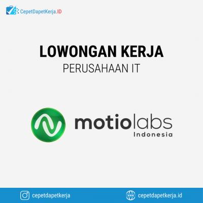 Loker Web Developer, Mobile Developer, Unity Developer – Motiolabs Indonesia
