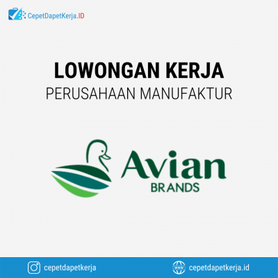 Loker RDI Decorative Manager, RDI Resin Manager, RDI Wood Coating Manager, GA Staff, Supply Chain Director, Dll – PT. Avia Avian