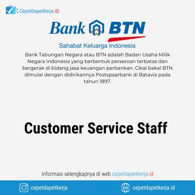 Loker Customer Service Staff – Bank BTN