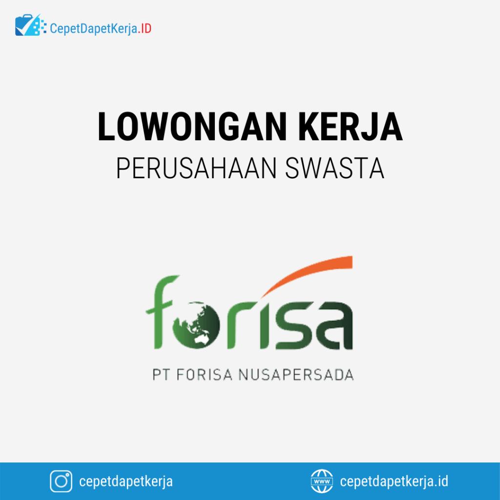 Lowongan Kerja Koordinator Sales, Sales Canvas, Admin Acounting, Floor Staff, Dll - PT. Forisa Nusapersada
