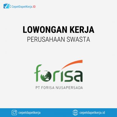 Loker Koordinator Sales, Sales Canvas, Admin Acounting, Floor Staff, Dll – PT. Forisa  Nusapersada