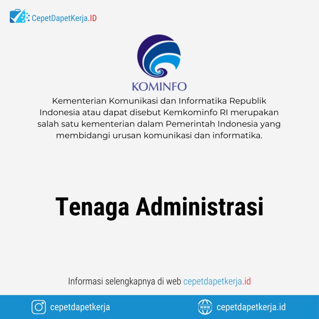 Lowongan Kerja Tenaga Administrasi - Balai Monitor Spektrum Frekuensi Radio Kelas I Yogyakarta (Kemkominfo)