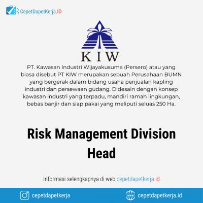 Loker Risk Management Division Head – PT. Kawasan Industri Wijayakusuma