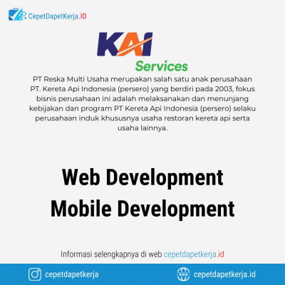 Loker Web Development, Mobile Development – PT. Reksa Multi Usaha