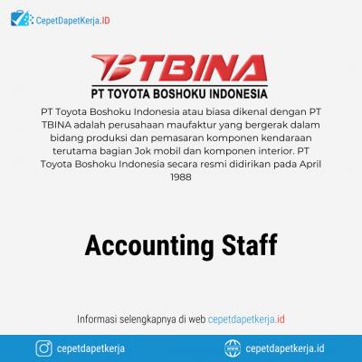 Loker Accounting Staff – PT. Toyota Boshoku Indonesia