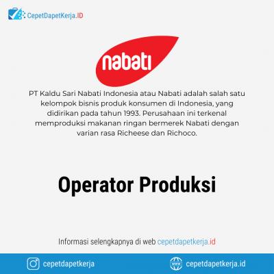 Loker Operator Produksi – PT. Kaldu Sari Nabati