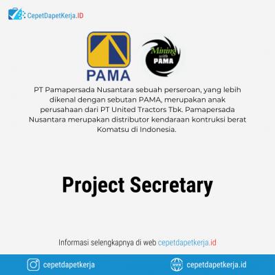 Loker Project Secretary – PT. Pamapersada Nusantara