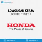Lowongan Kerja Sales Strategy Staff, Product Planning Staff, Trainer, Industrial Relation Staff, Performance Management Staff - PT. Honda Prospect Motor