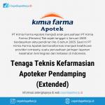 Lowongan Kerja Tenaga Teknis Kefarmasian, Apoteker Pendamping (Extended) - PT. Kimia Farma Apotek